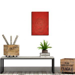 Red Rose Art | Hand painted art Toronto