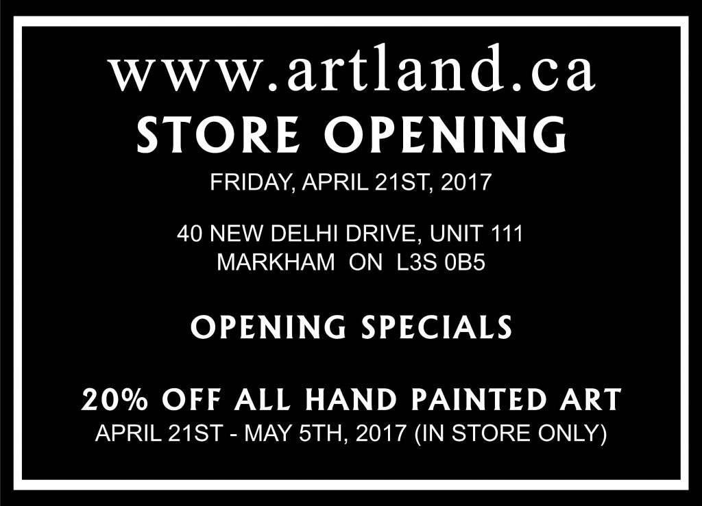artland grand opening to email