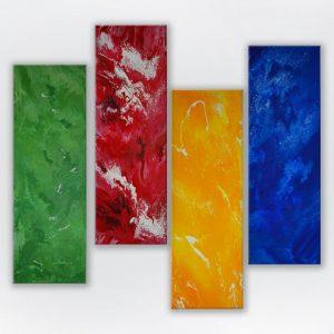 4 Panels Abstract [www.artland.ca]