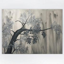 Cherry Blossom Tree Tones of Grays